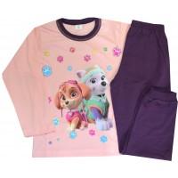 Детска пижама КУЧЕТА 6-7 години в тъмно лилаво.