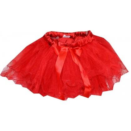 Детска пола ПАЧКА 5-12 години в червено.