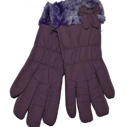 Детски ръкавици 6-8 години в лилаво.