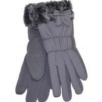 Детски ръкавици 6-8 години в сиво.