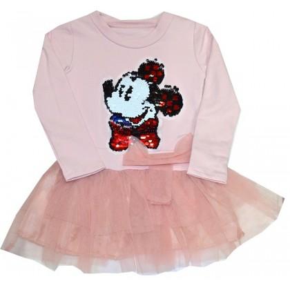 Леко ватирана детска рокля MM 2-8 години.