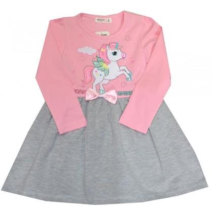 Детска рокля ПОНИ 92-116 ръст в розово BREEZE.