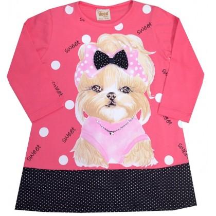 Детска туника-рокля КУЧЕ 2-6 години.