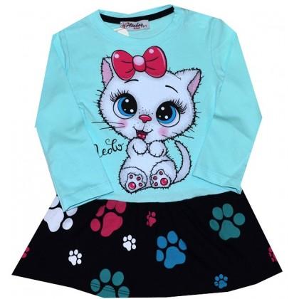 Детска рокля КОТЕ 1-3 години в резида.