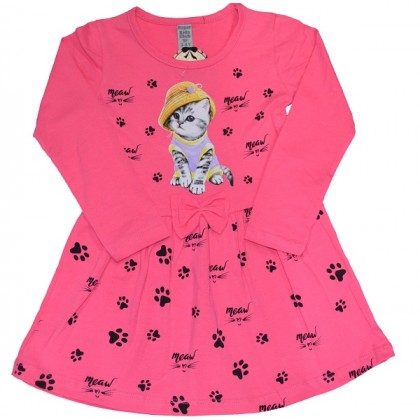 Детска рокля КОТЕ С ШАПКА 2-6 години.