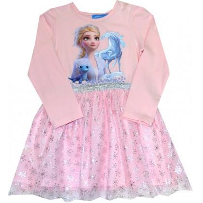 Детска рокля АЕ 3-6 години в розово КОД 01.