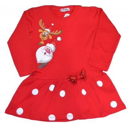 Детска рокля КОЛЕДНА 4-7 години.
