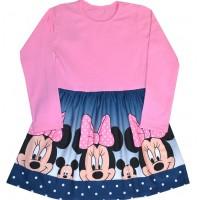 Детска рокля ММ 110-128 ръст в розово.
