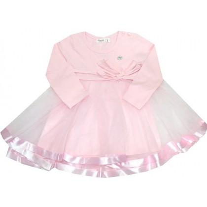 Детска рокля РОЗОВА 86-110 ръст.