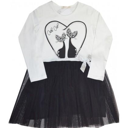 Детска рокля КОТКИ 116-152 ръст.