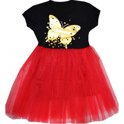 Детска рокля ПЕПЕРУДА 3-4 години в циклама.