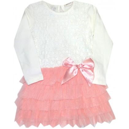 Детска рокля BREEZE  80-116 ръст в праскова.
