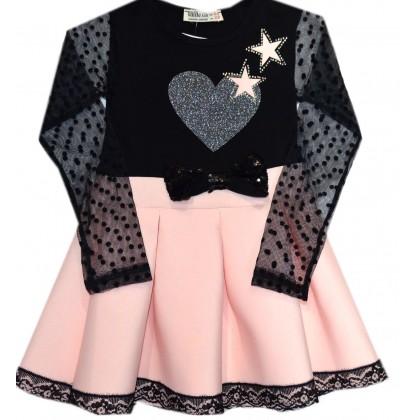 Детска рокля ПРАСКОВА 3-6 години.