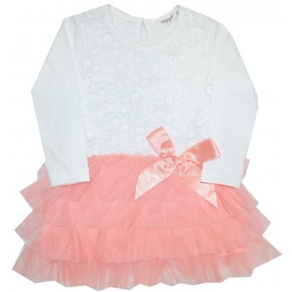 Детска рокля BREEZE 80-104 ръст в праскова.