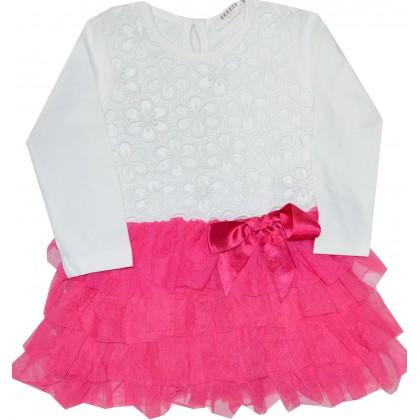 Детска рокля BREEZE 80-104 ръст в циклама.