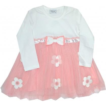 Детска рокля BREEZE 92-116 ръст в прасковено.