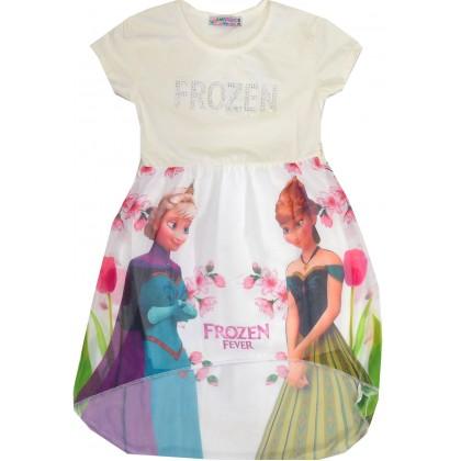 Детска рокля ЕЛЗА 98-122 ръст в крем.