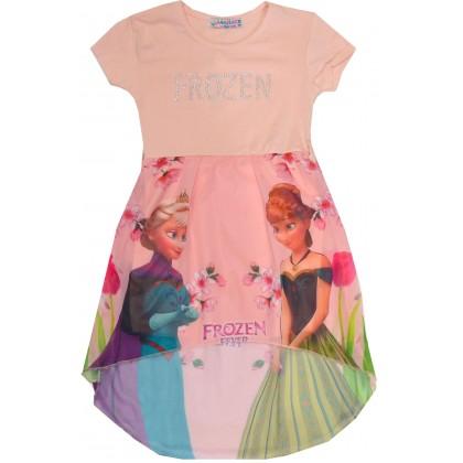 Детска рокля ЕЛЗА 98-122 ръст в праскова.