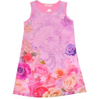 Детска рокля РОЗИ 104-134 ръст в розово.