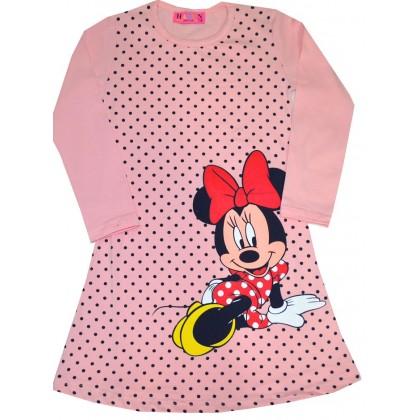 Детска рокля ММ 4-8 години в праскова.
