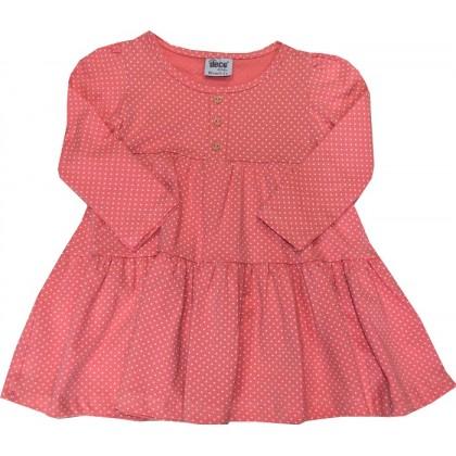 Детска рокля РОЗОВА НА ТОЧКИ 1-5 години.