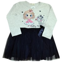 Детска рокля МОМИЧЕНЦЕ С КУЧЕ 98-128 ръст.