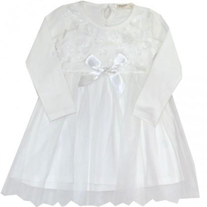 Детска рокля БЯЛА 92-104 BREEZE.