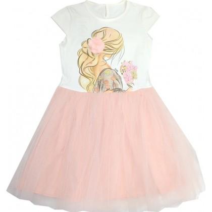 Детска рокля КОКЕТКА 134-146 ръст.