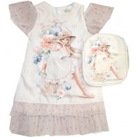 Детска рокля МОНСТЕР комплект с раница 3-6 години.