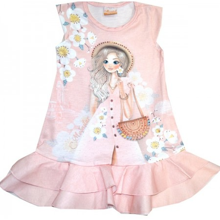 Детска рокля МОНСТЕР 4-7 години.