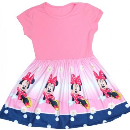Детска рокля ММ 2-4 86-128 ръст в розово.