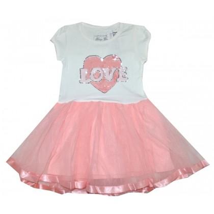 Детска рокля LOVE 98-128 ръст BREEZE.