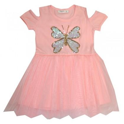 Детска рокля ПЕПЕРУДА 98-128 ръст.