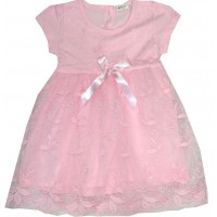 Детска рокля BREZZE ДАНТЕЛА 86-110 ръст в розово.