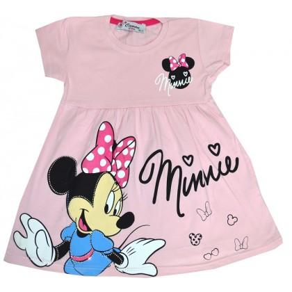 Детска рокля М 1-3 години в розово.