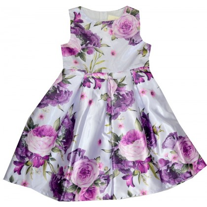 Детска рокля МАРИША ЛИЛАВИ ЦВЕТЯ 122-152 ръст.