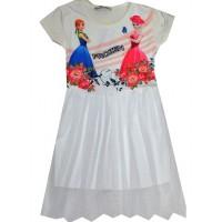 Детска рокля АЕ 3-7 години в бяло.