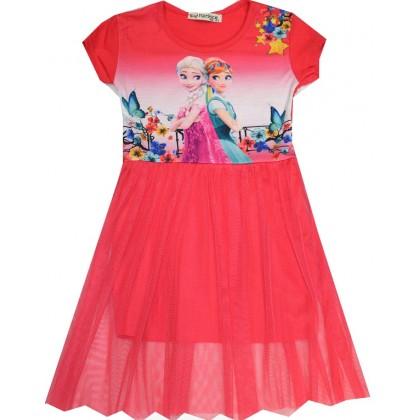 Детска рокля АЕ 98-122 ръст в червено.
