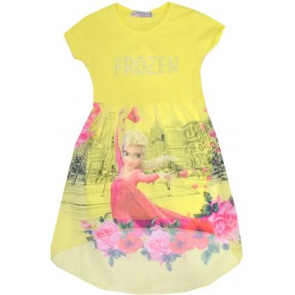 Детска рокля ЕЛЗА 98-122 ръст в жълто.
