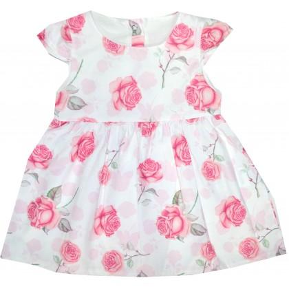 Бебешка рокля ЦВЕТЯ 74-92 ръст.