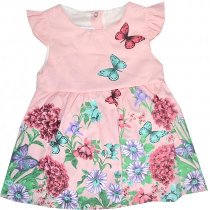 Бебешка рокля ПЕПЕРУДИ 74-92 ръст.