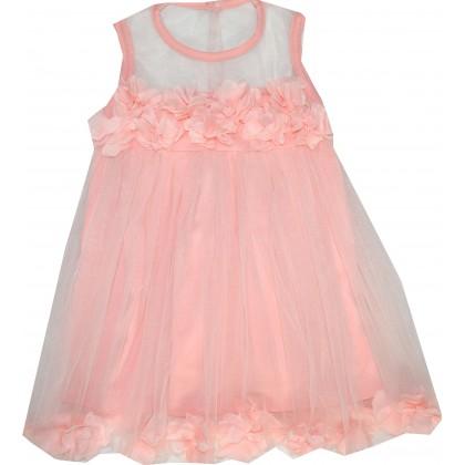 Детска рокля РОЗИ 80-110 ръст в праскова.