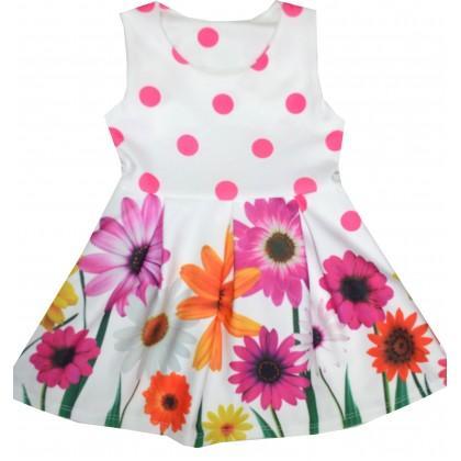 Детска рокля ЦВЕТЯ 1-4 години.