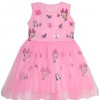 Детска рокля  98-128 ръст в розово.