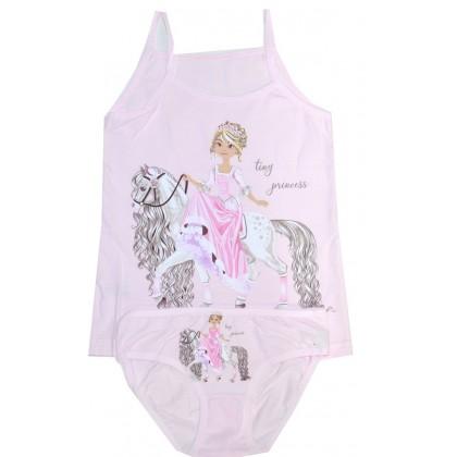 Комплект бельо за момиче ПРИНЦЕСА 2-10 години в лилаво.