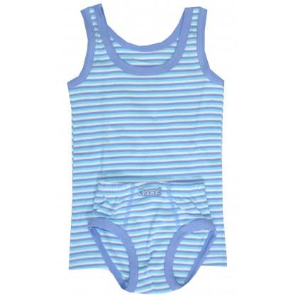 Детско бельо за момче РАЕ 98-116 ръст  в синьо.