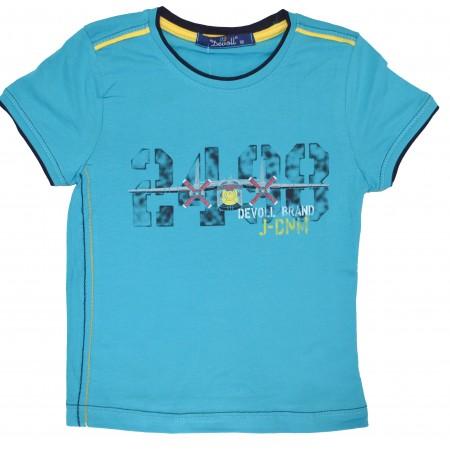 Детска блуза САМОЛЕТИ 92-110 ръст в синьо.