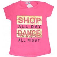 Детска блуза ТАНЦИ 8-11 години в нежно розово.