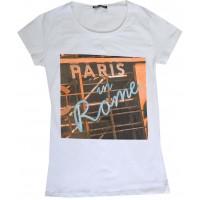 Юношеска блуза ПАРИЖ 12-16 години в бяло.