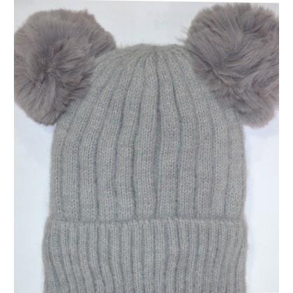 Детска шапка КАЛИНА 6-12 години в сиво.